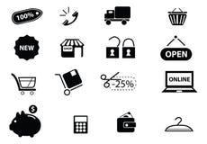 symboler ställde in rengöringsduk Arkivbilder