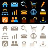 symboler ställde in rengöringsduk Arkivfoto