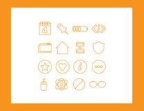 symboler ställde in rengöringsduk Fotografering för Bildbyråer