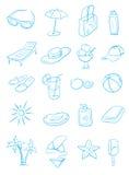 symboler ställde in sommar Royaltyfri Foto