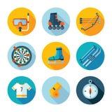 symboler ställde in sportar Arkivfoto