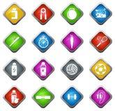 symboler ställde in sportar Royaltyfria Foton