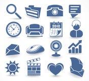 symboler ställde in teknologi Arkivfoto