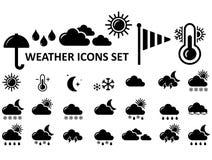 symboler ställde in väder royaltyfri illustrationer