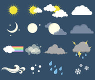 symboler ställde in väder Fotografering för Bildbyråer