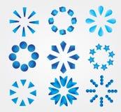 symboler ställde in vektorn Royaltyfria Bilder