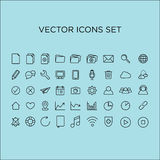 symboler ställde in vektorn Fotografering för Bildbyråer