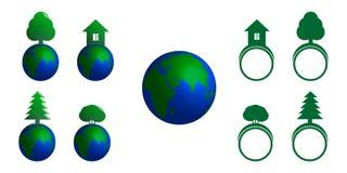 symboler ställde in vektorn Royaltyfri Illustrationer