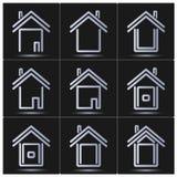 symboler ställde in vektorn Hus Royaltyfri Fotografi