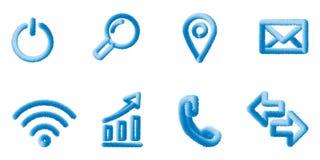 symboler ställde in vektorn rengöringsdukbeståndsdelar Eps10 stock illustrationer