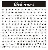 symboler ställde in vektorrengöringsduk Royaltyfria Bilder