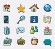 symboler ställde in website Arkivfoton
