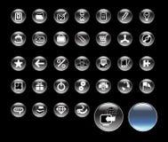 symboler ställde in website Royaltyfria Bilder