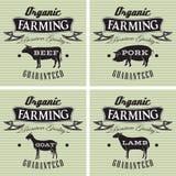Symboler svin, ko, får, get royaltyfri illustrationer