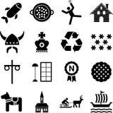 symboler sweden royaltyfri illustrationer