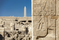 Symboler undertecknar diagram av Pharaohsfndhieroglyf på det wal Royaltyfria Bilder