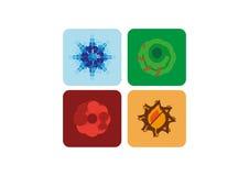 Symboler uppsättning för fyra säsonger Royaltyfri Bild