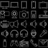 Symboler vid en linje Royaltyfria Bilder