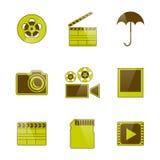 Symboler video och fotofilmande, vektorillustration Royaltyfria Bilder