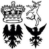 symboler wappen Vektor Illustrationer