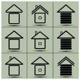 Symbolerna av huset Arkivfoton