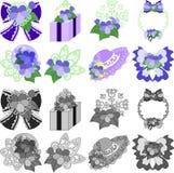 Symbolerna av violeten stock illustrationer