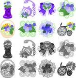 Symbolerna av violeten vektor illustrationer