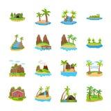 Symbolerna för öplatsvektor vektor illustrationer