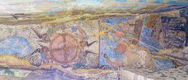 Symbolerna i grotta av Vardzia Royaltyfri Fotografi