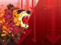 Symboles à la baisse sur l'illustration de vecteur de marché boursier dirigez les diagrammes de forex ou de produits, sur le fond illustration de vecteur