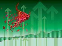 Symboles à la hausse sur l'illustration de vecteur de marché boursier vecteur antérieur illustration de vecteur