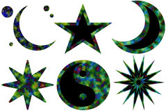 Symboles 2 de karma Illustration Stock