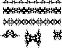 Symboles abstraits de vecteur noir   Photos stock