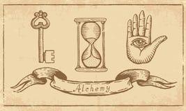 Symboles alchimiques Images libres de droits