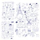 Symboles américains, russes et français Photographie stock libre de droits