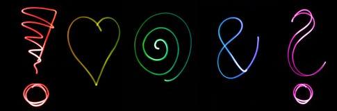 Symboles au néon Images libres de droits