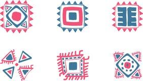 Symboles aztèques de vecteur Photos libres de droits