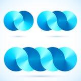 Symboles bleus de disques de vecteur d'infini abstrait Photos stock