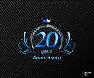 Symboles célébrant l'anniversaire avec le concept du luxe Image libre de droits