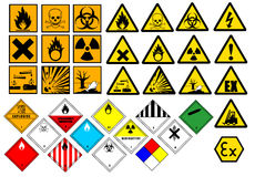 Symboles chimiques Photos stock