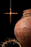 Symboles chrétiens de Pâques Photographie stock libre de droits