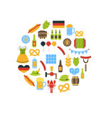 Symboles colorés d'Oktoberfest Photos stock