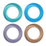 Symboles colorés de cercle Image libre de droits