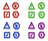Symboles colorés sur le blanc Photo stock