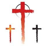 Symboles croisés de christianisme Photographie stock