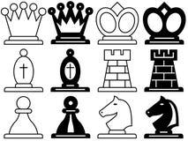 Symboles d'échecs illustration libre de droits