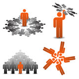 Symboles d'affaires teamplay illustration libre de droits