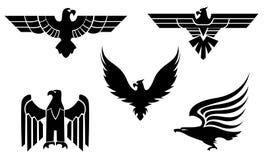 Symboles d'aigle Photo libre de droits
