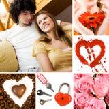 Symboles d'amour Photo libre de droits