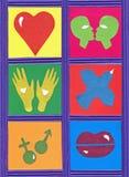 Symboles d'amour images libres de droits
